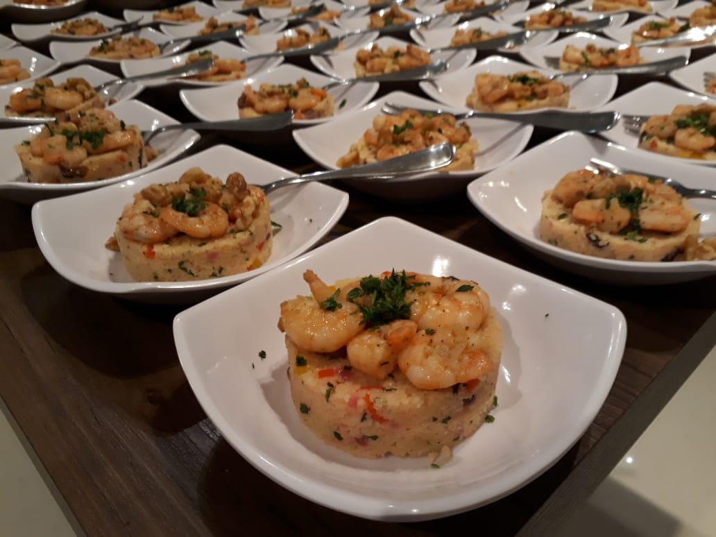 Petit Porcao: couscous marroquino de camarão